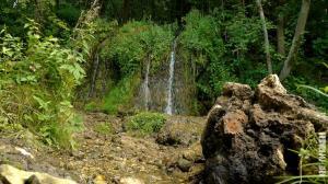 Водопад и камень в Папино